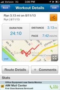 3 mile pr