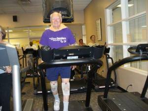 Grandpa at his 91st birthday party at the gym!