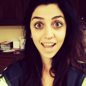 Pretending to be excited for my run....