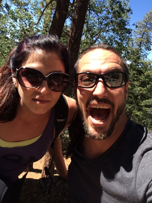 Intense hiking faces!