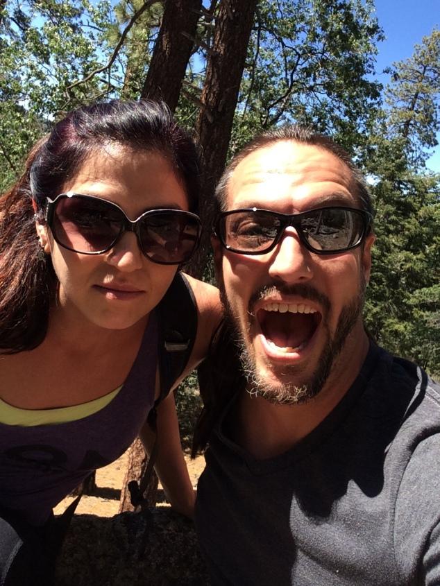 Intense hiking faces!