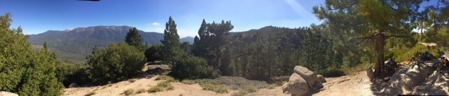 Panoramic View of our 7 mile hike in Big Bear!